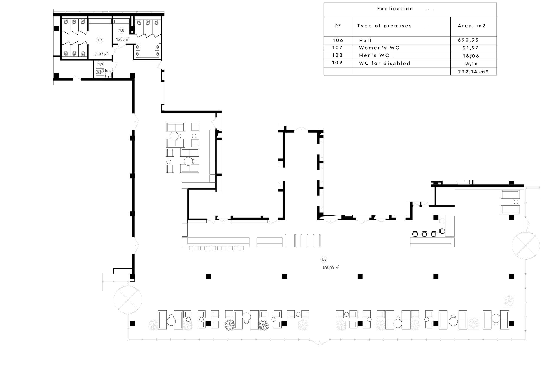 HALL IN BUSINESS-CAMPUS B12, UNIT.CITY Розробка дизайн-проекту холу вхідн