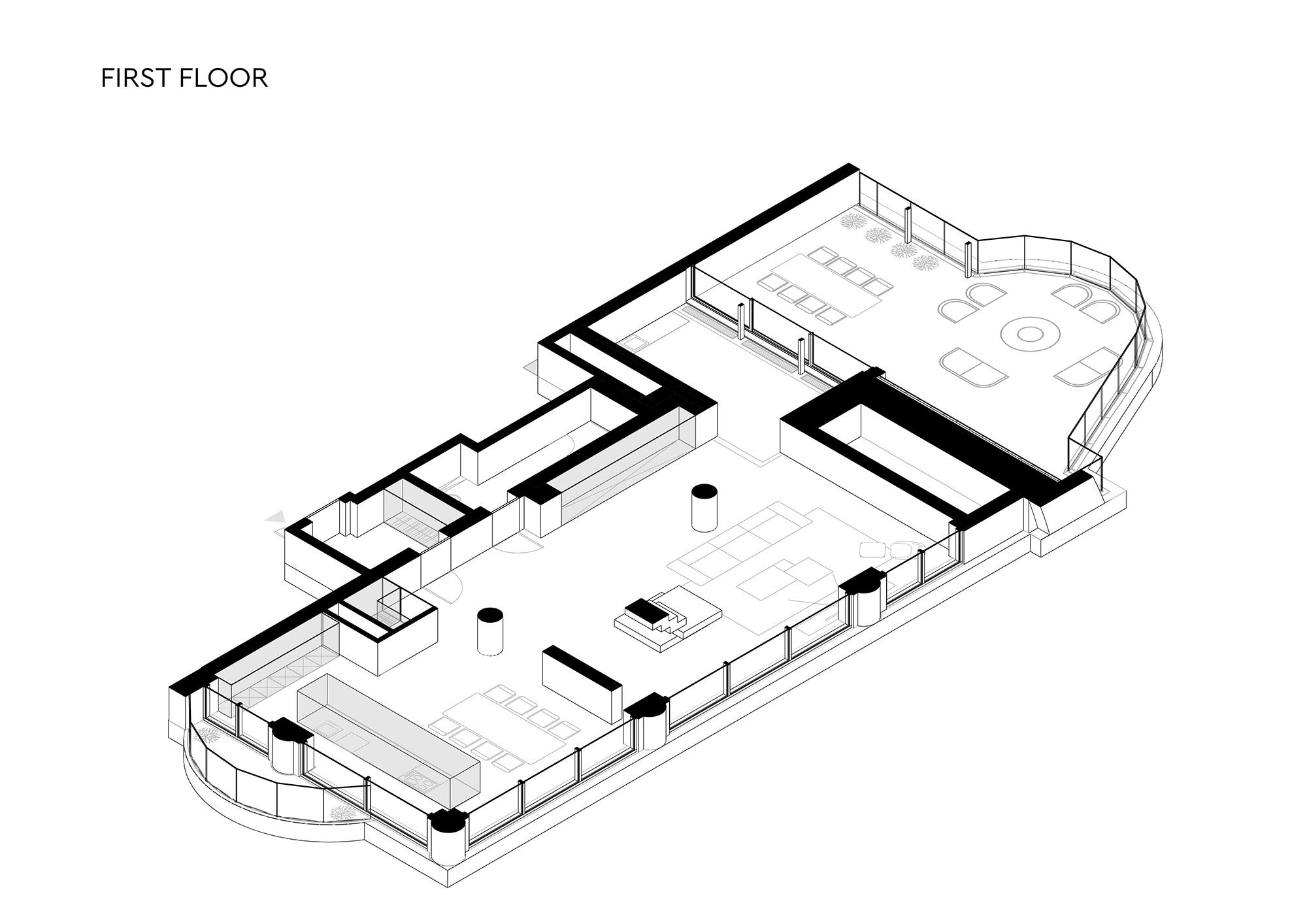 Penthouse 180 floor 1
